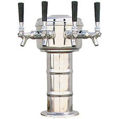 MicroMatic Four Faucet Kegerators Tower